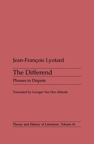 9780816616114: Differend: Phrases in Dispute (Theory and History of Literature)