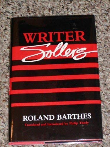 9780816616275 - Barthes, Roland: Writer Sollers - Libro