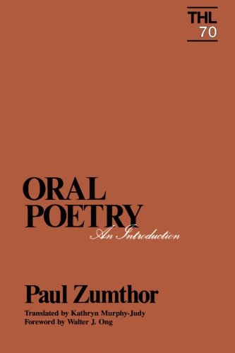 9780816617258: Oral Poetry: An Introduction (Theory and History of Literature)