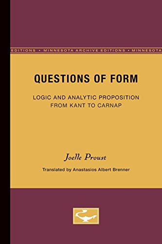 Questions of Form: Proust Joelle