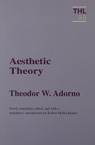 9780816617999: Aesthetic Theory (Theory and History of Literature)