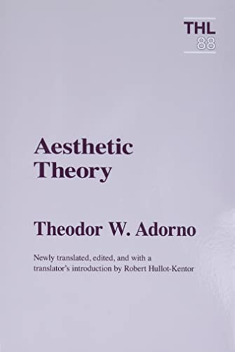 9780816618002: Aesthetic Theory (Theory & History of Literature)