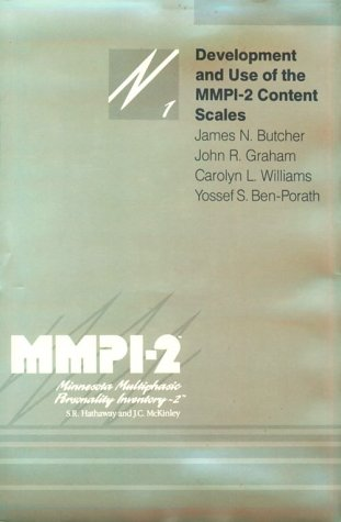 9780816618170: Development and Use of the MMPI-2 Content Scales (MMPI-2 Monographs)
