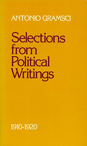 9780816618415: Selections from Political Writings: 1910-1920 (English and Italian Edition)