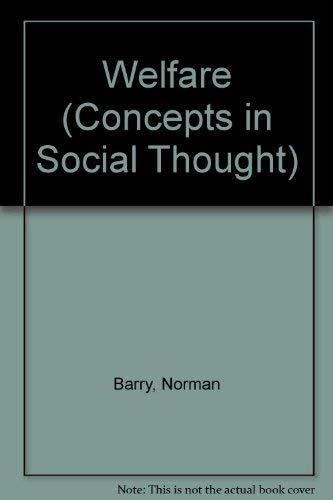 9780816618828: Welfare (Concepts in Social Thought)