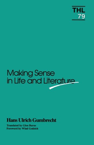 9780816619542: Making Sense in Life and Literature (Theory and History of Literature V. 79)