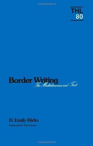 9780816619825: Border Writing: The Multidimensional Text (Theory & History of Literature)