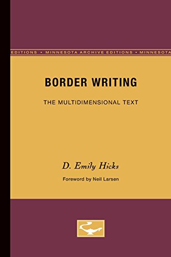 9780816619832: Border Writing: The Multidimensional Text (Theory & History of Literature)