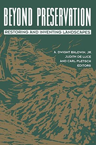 9780816623471: Beyond Preservation: Restoring and Inventing Landscapes