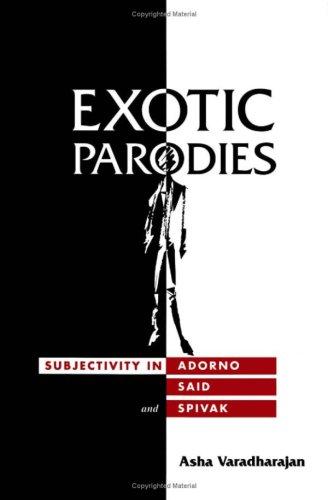 9780816625291: Exotic Parodies: Subjectivity in Adorno, Said, and Spivak
