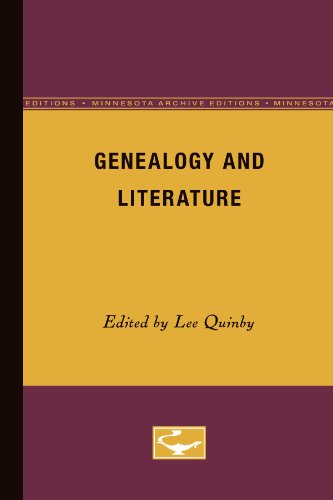 Genealogy and Literature (Minnesota Archive Editions) (Minnesota Archive Editions): Quinby, Lee