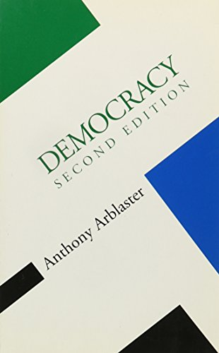 9780816626014: Democracy (Concepts Social Thought)