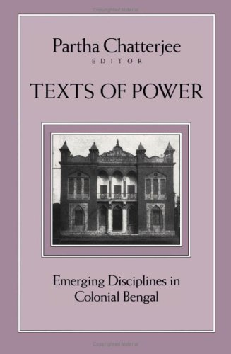 9780816626878: Texts Of Power: Emerging Disciplines in Colonial Bengal