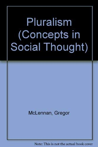 9780816628148: Pluralism (Concepts in Social Thought)