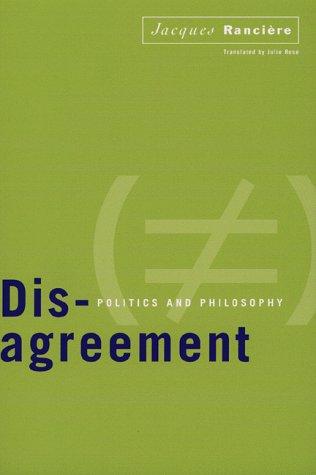9780816628445: Disagreement: Politics and Philosophy