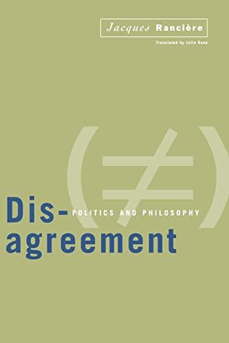 9780816628452: Disagreement: Politics And Philosophy