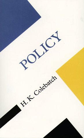9780816631384: Policy (Concepts in social though)