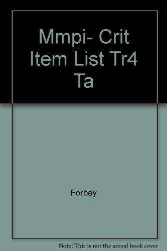 Mmpi- Crit Item List Tr4 Ta: Forbey