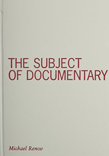 9780816634408: The Subject of Documentary