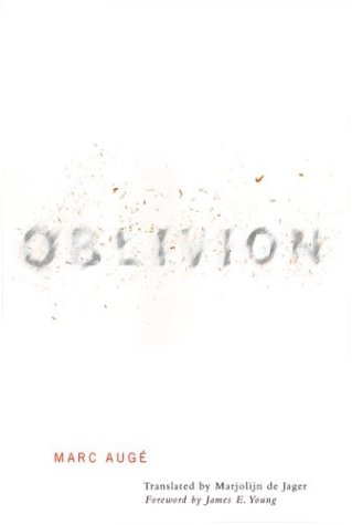 Oblivion (0816635676) by Marc Auge