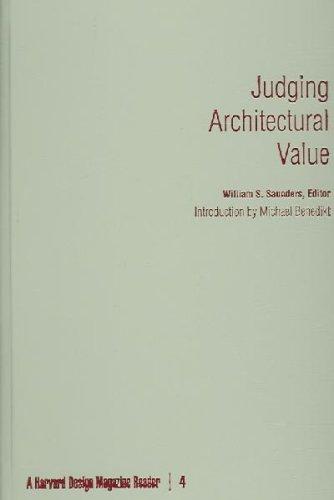 9780816650101: Judging Architectural Value: A Harvard Design Magazine Reader