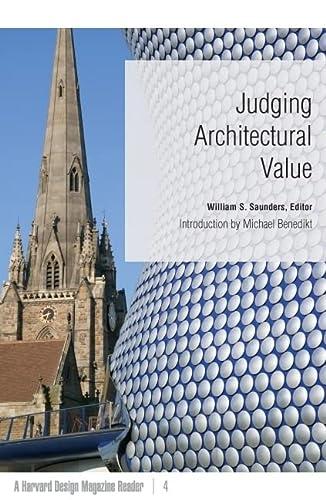 9780816650118: Judging Architectural Value: A Harvard Design Magazine Reader