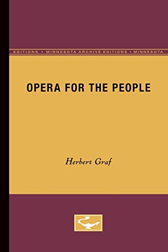 9780816659852: Opera for the People (Minnesota Archive Editions)