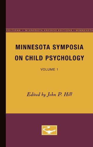 9780816668779: Minnesota Symposia on Child Psychology: Volume 1