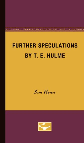 9780816668830: Further Speculations by T.E. Hulme