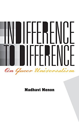 9780816695928: Indifference to Difference: On Queer Universalism