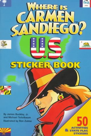 9780816741342: Where is Carmen Sandiego U.S. Sticker Book