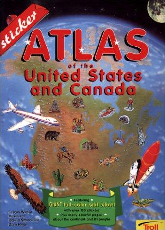 9780816747993: Sticker Atlas Of The U.S. & Canada