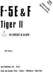 9780816850150: F-5 E & F Tiger II in detail & scale: USAF & USN aggressor aircraft - D&S Vol. 5