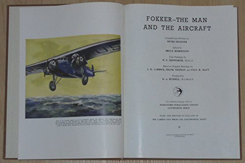 9780816863709: Fokker: The Man and the Aircraft