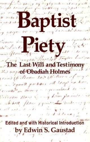 9780817012045: Baptist Piety: The Last Will & Testimony of Obadiah Holmes