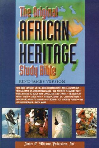Original African Heritage Study Bible-KJV-Large Print (Paperback): Cain Hope Felder