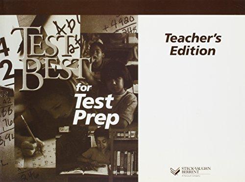9780817258429: Test Best for Test Prep: Level E (Test Best for Test Prep (Teacher Guides)) (Steck-Vaughn Test Best)