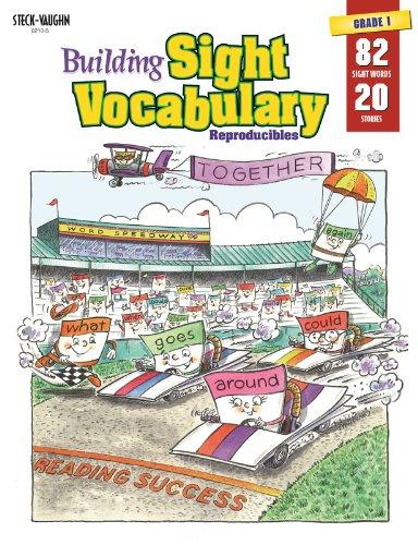 9780817262105: Steck-Vaughn Building Sight Vocabulary: Student Workbook Reproducible Book 1
