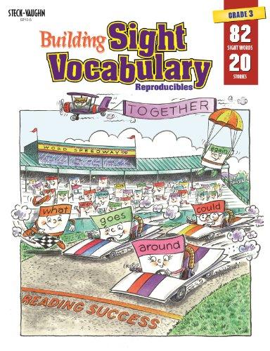 9780817262129: Steck-Vaughn Building Sight Vocabulary: Student Workbook Reproducible Book 3