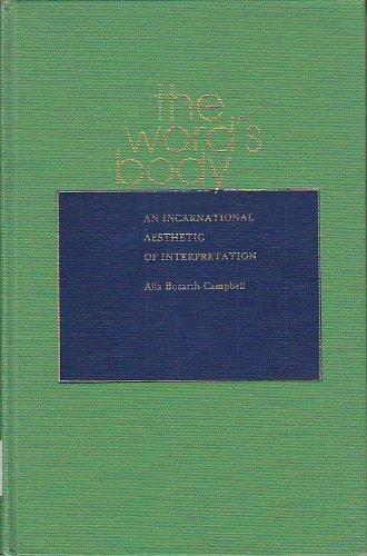 9780817300098: The Word's Body: An Incarnational Aesthetic of Interpretation