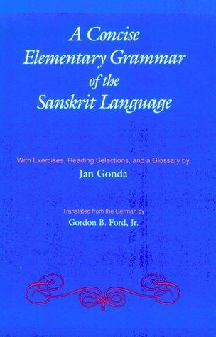 9780817300722: Concise Elementary Grammar of the Sanskrit Language