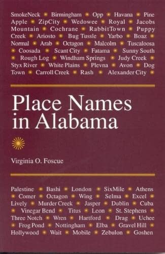 9780817304102: Place Names in Alabama