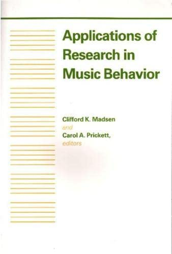 9780817305420: Applications of Research in Music Behavior