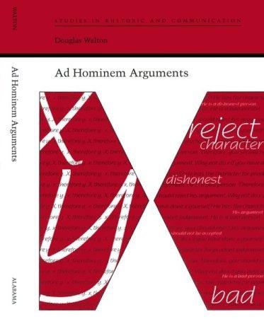 9780817309220: Ad Hominem Arguments (Studies Rhetoric & Communicati)