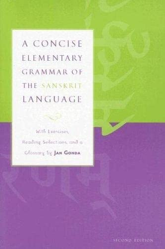 9780817352615: A Concise Elementary Grammar of the Sanskrit Language