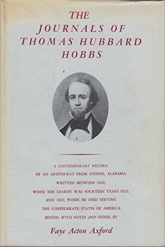 The Journals of Thomas Hubbard Hobbs: Axford, Faye A. (editor)