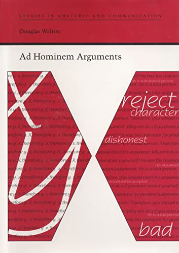 9780817355616: Ad Hominem Arguments (Studies in Rhetoric and Communication)