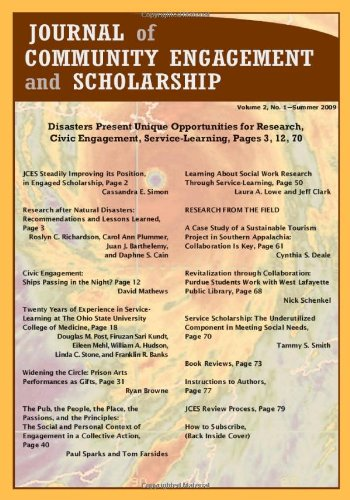 9780817374020: Journal of Community Engagement and Scholarship, Vol. 2 No. 1: Summer 2009