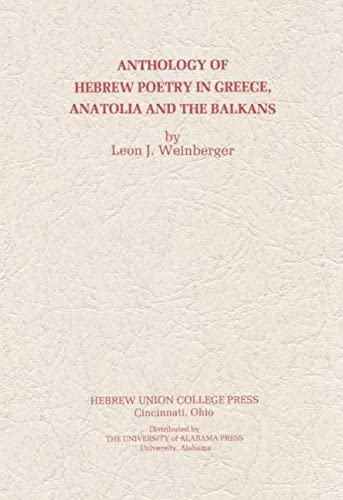 9780817385255: Anthology of Hebrew Poetry in Greece, Anatolia, and the Balkans