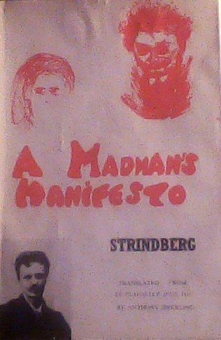 9780817385538: A Madman's Manifesto. Le Plaidoyer D'UN Fou. by August Strindberg